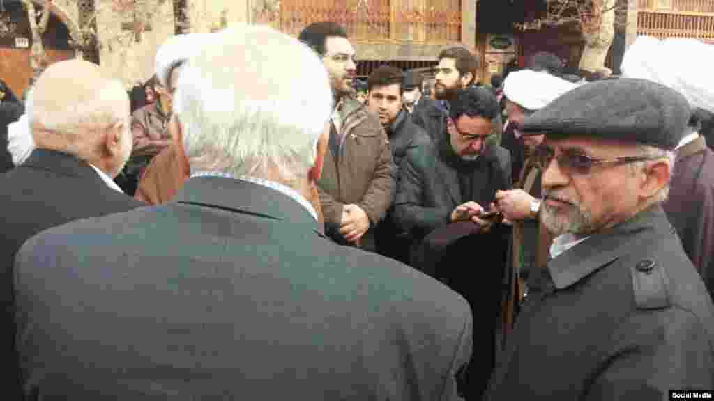محسن میردامادی، دبیرکل جبهه مشارکت، و مصطفی تاجزاده