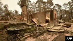 Част от разрушените къщи в Нов Южен Уелс , Австралия