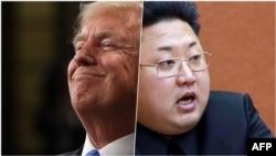 Президент США Дональд Трамп и северокорейский лидер Ким Чен Ын.