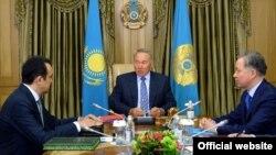 Карим Масимов, Нурсултан Назарбаев, Нурлан Нигматуллин.