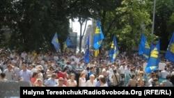 Новый закон о языке вызвал массовые протесты в Украине. Львов, 4 июля 2012 года.