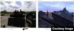 Техніка біля станиці Мітякінської (ліворуч) та хутору Анікін (праворуч)