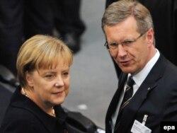 Angela Merkel i Kristijan Vulf