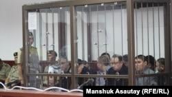 Подсудимые по «Хоргосскому делу». Алматы, 20 июня 2013 года.