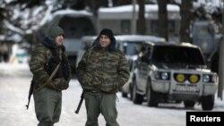 Вооруженные люди на улицах Цхинвали