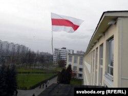 Сьцяг на будынку ВТУ, Віцебск