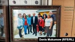 Усть-Бюр. Президент с руководителями села и погорельцами. 2015 год