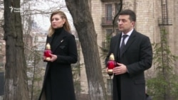 Президент Зеленський із дружиною вшанували пам'ять Героїв Небесної сотні у Києві – відео