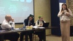 Татарстан ата-аналары конференциясендә Ксения Сабирова чыгыш ясый. 21 апрель 2018