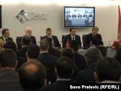 Sastanak u Privrednoj komori Crne Gore, 23. decembar 2011.