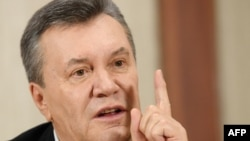 Former Ukrainian President Viktor Yanukovych in Moscow in February 2017