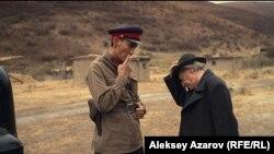 """""""Жат"""" фильмінен көрініс. Алматы, 23 қыркүйек 2015 жыл."""