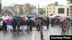 Protestë e serbëve në Mitrovicë, 23 maj, 2012