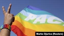 Zastava LGBT populacije - ilustracija