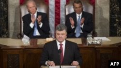 Ukrainian President Petro Poroshenko addresses a joint meeting of Congress at the U.S. Capitol in Washington in September.