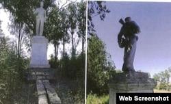 Памятник солдату на территории Ленинского района