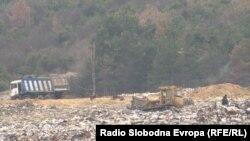 Депонијата Дрисла во близина на Скопје.