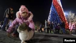 Севастополь, ялинка на площі Нахімова, грудень 2015 року
