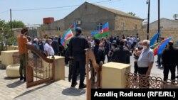 Müsavatçılar Novxanıda M.Ə.Rəsulzadənin abidəsini ziyarət edirlər. 28 may 2020