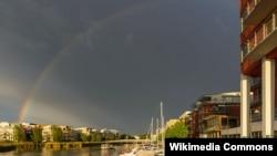 Glavni grad Švedske Stokholm, ilustracija
