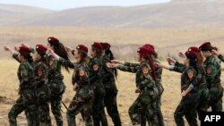 Курдските Пешмерга борци
