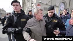 Акція на підтримку затриманих під час Дня Волі у Мінську, 26 березня 2017 року