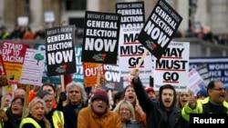 Брекзитке каршылардын демонстрациясы. Лондон, 12-январь, 2018-жыл.