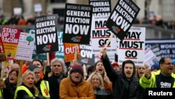 Брекзитке каршы чыккандардын демонстрациясы. Лондон, 12-январь, 2018-жыл.