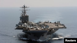 "The U.S. aircraft carrier ""Abraham Lincoln"""