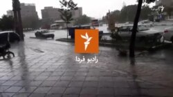 بارش شدید تگرگ، تهران، ۱۱ اردیبهشت ۱۳۹۹