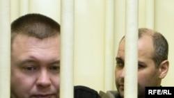Обвиняемые по делу об убийстве Анны Политковской Павел Рягузов и Сергей Хаджикурбанов
