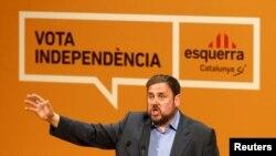 Каталония бәйсезлеге тарафдарлары җитәкчесе Уриоль Джункерес