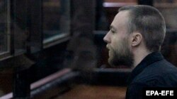 British citizen Jack Shepherd at a court hearing in Tbilisi last month.