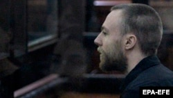 British citizen Jack Shepherd at his extradition hearing in Tbilisi on March 26.