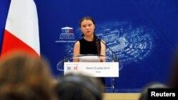 Greta Thunberg na debati sa francuskim parlamentarcima, Pariz