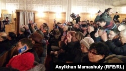 Участники съезда Общенациональной социал-демократической партии (ОСДП). Алматы, 30 января 2016 года.