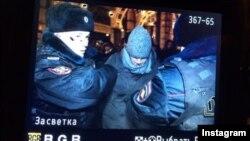 Полицияның Алексей Навальныйды ұстау әрекеті. Мәскеу. 30 желтоқсан, 2014 жыл.