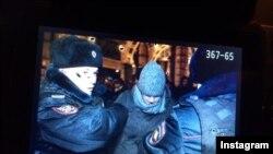 Arestarea lui Navalnîi, Piața Manejului din Moscova, 30 decembrie 2014. Imagine postată pe Twitter.