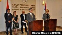 Denis Zvidzić i Željka Cvijanović nakon sastanka u Banjaluci