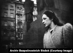 Czechoslovakia's secret police were particularly obsessed with the dissident Alena Hromadkova (pictured above on Prague's Wenceslas Square). They stalked her for four years.