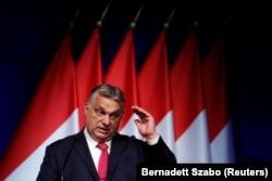 Mađarski premijer Viktor Orban govori na poslovnoj konferenciji u Budimpešti 9. juna.