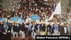 Босьнія і Герцагавіна пад алімпійскім сьцягам на Алімпіядзе-1992