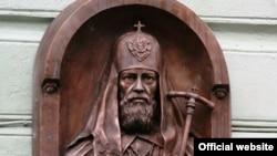 Мемориальная доска на доме, где родился патриарх Алексий I (Симанский).