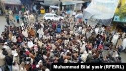 آرشیف، یک گردهمایی اعتراضیه در منطقه باجور پاکستان