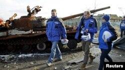 Спостерігачі СММ ОБСЄ на Донбасі, архівне фото