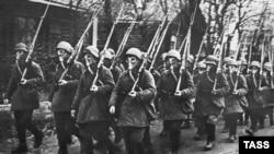 """""""Рабочий батальон"""" Красной Пресни ,1941 год"""