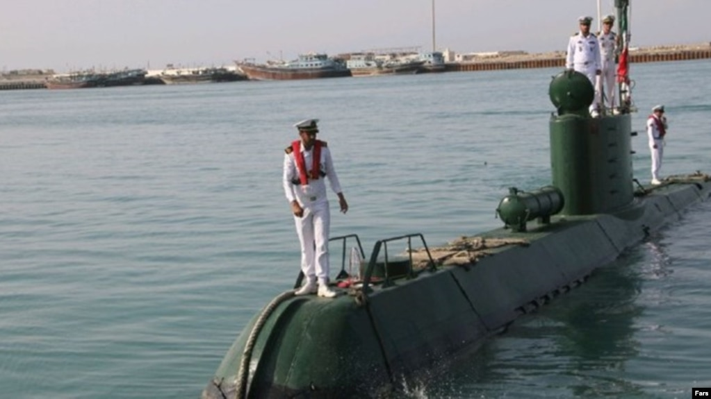 Tehran has claimed that a cruise missile was launched from one of the Iranian Navy's Ghadir-class submarines. (file photo)