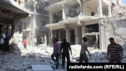 Передмістя Алеппо після російського бомбардування, Сирія, 12 жовтня 2016 року
