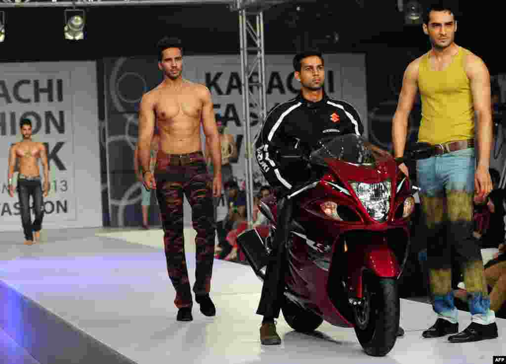 Creations by Pakistani designer Elemnet Jeans