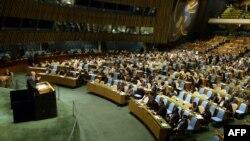 Заседание Генеральной Ассамблеи ООН. Нью-Йорк, 15 мая 2013 года.